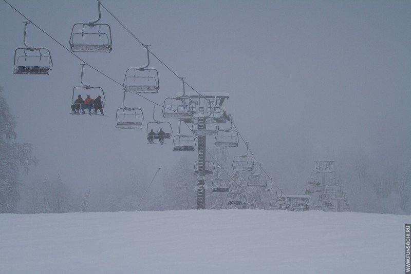 Кресеньный подъемник на горнолыжном курорте ГТЦ Газпром, Красная Поляна