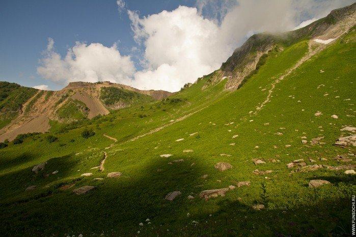 Тропа «Альпийские луга», Горки Город, Красная Поляна